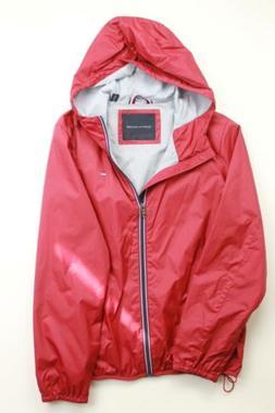 $125 Tommy Hilfiger Men's Solid Logo Rain Slicker Jacket Med