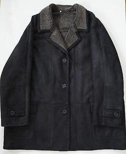 $1600 BLUE DUCK Brown SPANISH MERINO SHEARLING Coat Jacket O