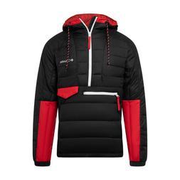 Columbia 1801171013 Men's Black/Red Norwester Anorak II Size