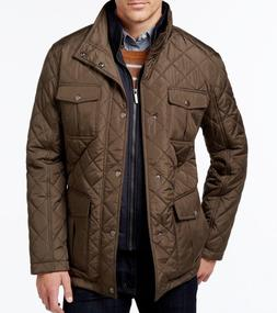 $199 NWT LONDON FOG MEN'S SzM CORDUROY-TRIM LAYERED QUILTED