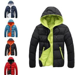 2018 Men's Duck Down Coat Thick Hooded Down Jacket Winter Pa