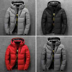2019 Men's Duck Down Coat Thick Hooded Down Jacket Winter Pa