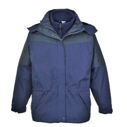 3 in 1 Rain Waterproof Jacket Men's Coat, Detachable Fleece,