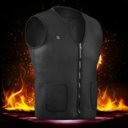 3 Mode Heating Electric USB Winter Heated Warm Vest Men Wome