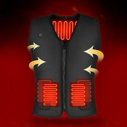 3 Mode USB Heated Vest Thermal Cloth Jacket Motorcycle Winte