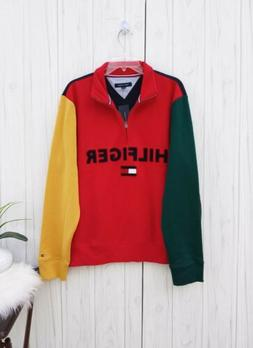 3XL MEN'S Tommy Hilfiger MULTICOLOR Jacket casual SWEATSHIRT
