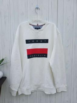 3XL MEN'S Tommy Hilfiger WHITE USA Jacket casual SWEATSHIRT