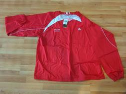 Adidas 4X Red Varsity Windbreaker Jacket pullover 1/4 zip NC