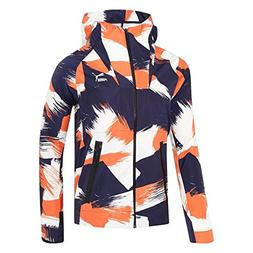 PUMA 569207 Mens Evo Fzw Jacket,Peacoat/Vermillion/Print - X