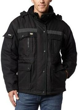 Caterpillar Men's Heavy Insulated Parka, Black, Large