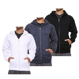 FORBIDEFENSE Men's Fleece Hoodie Zip Jacket Sweatshirt Coat