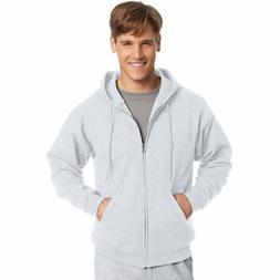 Hanes Men's & Women's EcoSmart Full-Zip Hooded Fleece Solid