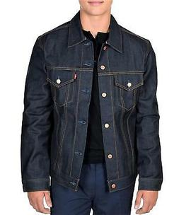 Levi's Men's Trucker Jacket Selvage Denim Rigid, Large, USA