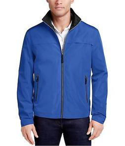 London Fog Mens Packable Full-Zip Windbreaker Jacket bluegaz