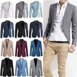 men s formal slim fit one button