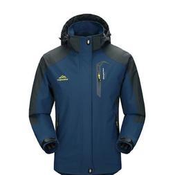 Men Waterproof Hoodie Outdoor Sport Coat Jacket Soft Winter
