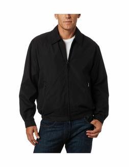 NEW London Fog Men's Zip-Front Golf Jacket - SMALL BLACK - F