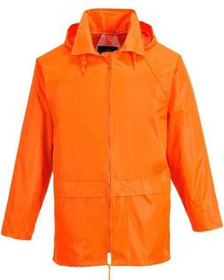 PORTWEST ORANGE CLASSIC RAIN JACKET WATERPROOF DURABLE SEALE