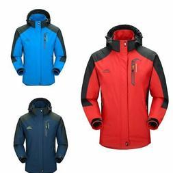 US Men's Sport Waterproof Hiking Jacket Winter Ski Outdoor R