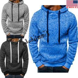 USA Men's Outwear Sweater Winter Hoodie Warm Coat Jacket Sli