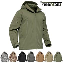 Waterproof Tactical Soft Shell Mens Jacket Coat Army Militar