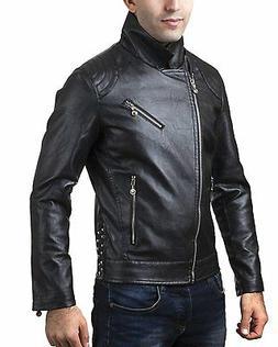 A.K. Collection Men's Faux-Leather Moto Jacket 2025