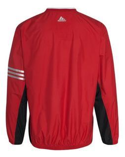 adidas A147 Mens ClimaLite Color Block V-Neck Windshirt - Un