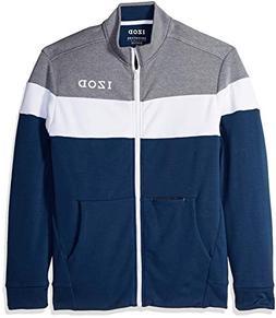 IZOD Men's Advantage Performance Track Jacket, Midnight Heat