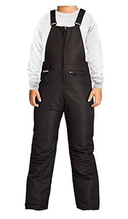 Arctix Youth Insulated Overalls Bib, Large, Black