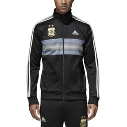 Adidas Argentina 2018 Men's 3 Stripes Track Jacket Black-Whi