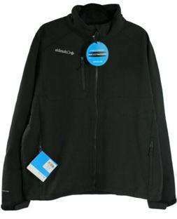 Columbia Men's Big Ascender II Softshell Jacket, Black, 1X