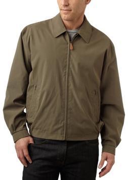 London Fog Men's Auburn Zip-Front Golf Jacket , Cement, 4X