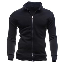 Autumn Winter Fleece Hoodies <font><b>Men</b></font> Sweatsh