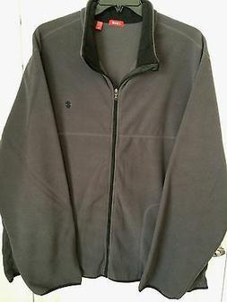 IZOD Big & Tall Dark Gray Heavy Fleece Zip Front Jacket $70