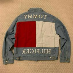 Tommy Hilfiger Big Flag Logo Denim Jean Jacket Men's sz. L L