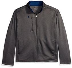 IZOD Men's Big and Tall Spectator Solid Fleece Jacket, Aspha