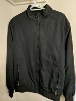 Nantersan Black Bomber Zipper Jacket, M