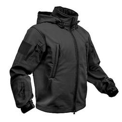 Black Special OPS Military Tactical Soft Shell Jacket Rothco
