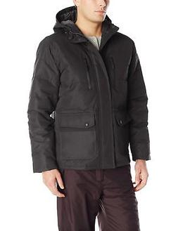 London Fog Men's Boardman Anorack with Attached Hood, Black,