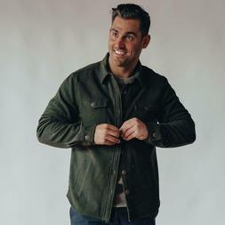 The Normal Brand Brightside Flannel Lined Jacket Green