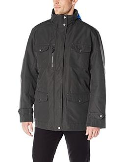 London Fog Men's Brogan 3 In 1 Field Coat with Hidden Hood,