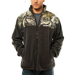 TrailCrest Men's C-Max Full Zip Polar Fleece Jacket, Mossy O