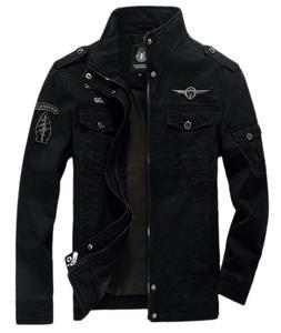 Chouyatou Men's Casual Long Sleeve Full Zip Jacket With Shou