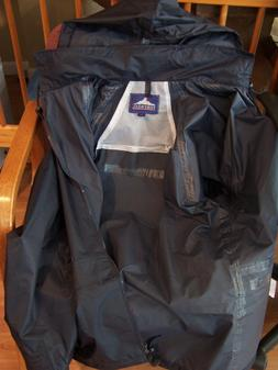 Portwest Classic Mens Rain Jacket with Hood S440 Navy Coat S