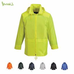 Portwest Classic Rain Waterproof Jacket Coat with hood  XS -