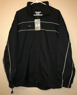 Nike Classic Windbreaker Mens Medium Black Full Zip golf Jac