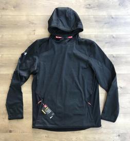 Under Armour ColdGear Reactor Fleece Hoodie Jacket Black Men