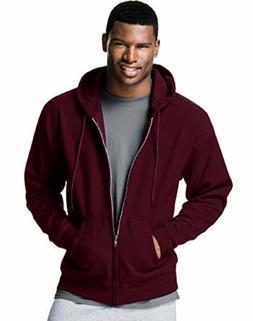 Hanes Men's ComfortBlend Full-Zip Hood 7.8 oz., L-Maroon