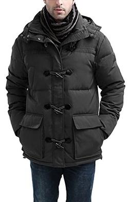 BGSD Men's Connor Hooded Waterproof Toggle Down Parka Coat -
