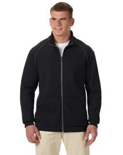 Gildan mens Premium Cotton 9 oz. Fleece Full-Zip Jacket-BLAC